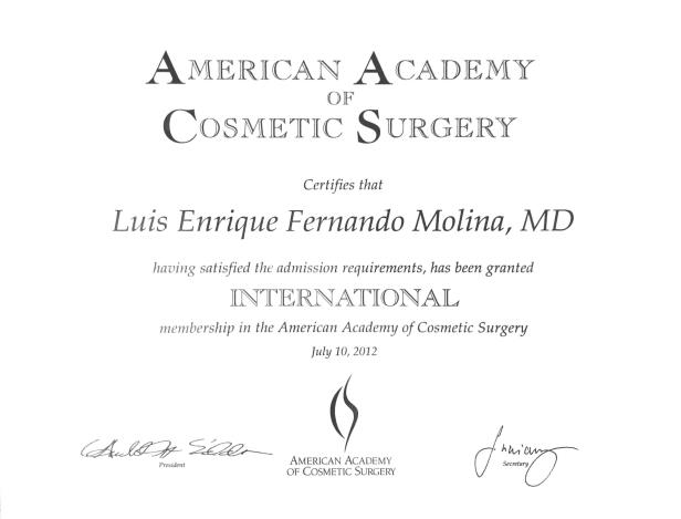 Certificados Dr Molina